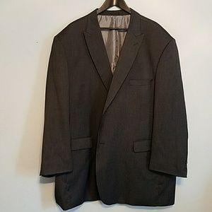 Stacy Adams Gold 56R 2 button EUC grey suit coat